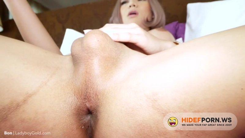 LadyboyGold - Bon 2 - Girlfriend Dress, No Pantie Creampie [HD 720p]
