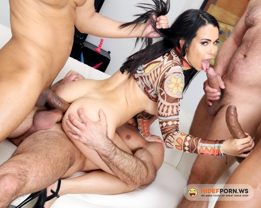 AnalVids.com, LegalPorno.com - Jessy Jey - DAP And Squirt With Jessy Jey, 4 On 1, Anal Fisting, DAP, Gapes, Squirt Drink, Creampie Swallow And Cumswallow GL434