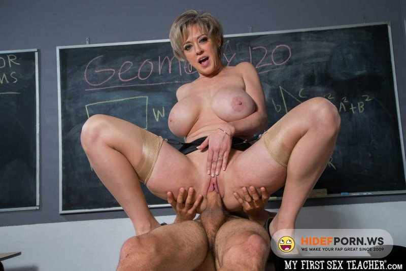 MyFirstSexTeacher - Dee Williams - Professor Dee Williams Helps Are Student Focus... On Her Huge Tits And Wet Pussy [HD 720p]