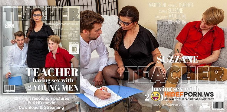 Mature.nl/Mature.eu - Suzzane - This naughty teacher has sex with two young men [FullHD 1080p]