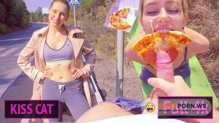 Porn.com - Kisscat - Public Agent Pickup 18 Babe for Pizza  Outdoor Sex and Sloppy Blowjob 4k [FullHD 1080p]