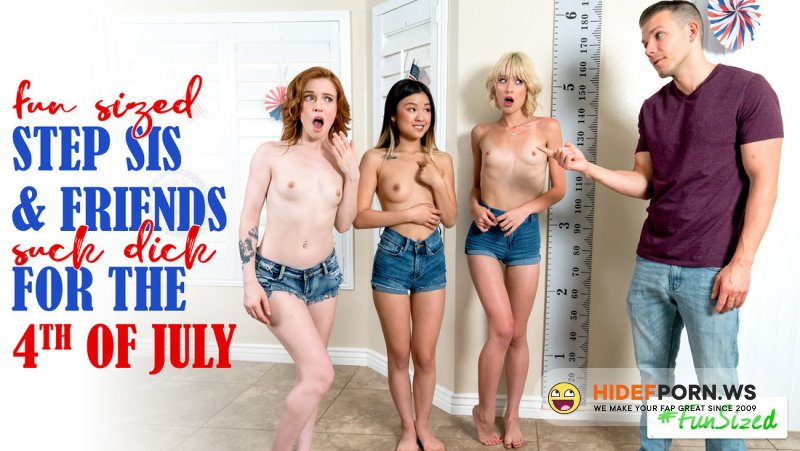 StepSiblingsCaught - Jessie Saint, Lulu Chu, Madi Collins - Take Your Fun Sized Sister And Her Friends To The Amusement Park For Fourth Of July [SD 540p]