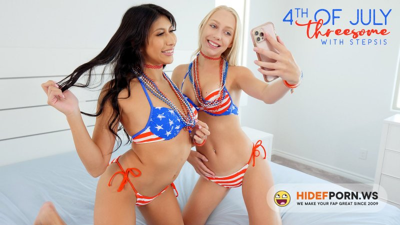 BrattySis - Braylin Bailey, Penelope Woods - Fourth Of July Threesome With Stepsis [SD 540p]