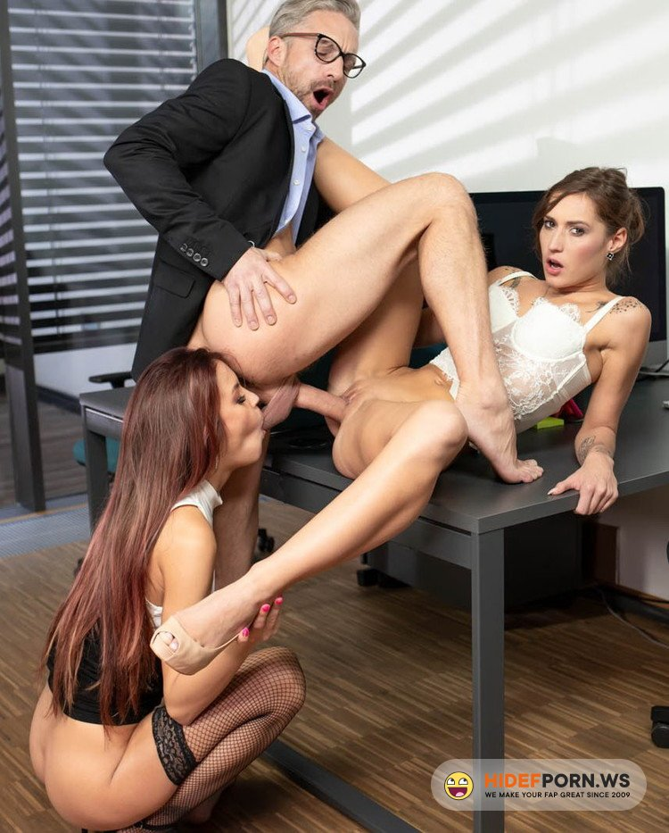AnalIntroductions.com/Private.com - Mina Medina, Cindy Shine - Anal Threesome At The Office [FullHD 1080p]