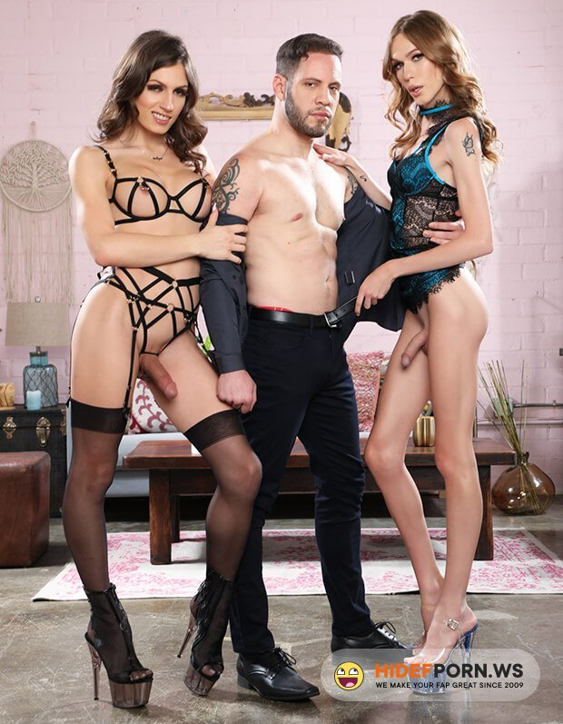 DevilsFilm - Jade Venus, Crystal Thayer - It's A Trans Sandwich And I'm The Meat! [FullHD 1080p]