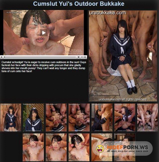 UraBukkake.com - Yuis - Cumslut Yuis Outdoor Bukkake [FullHD 1080p]